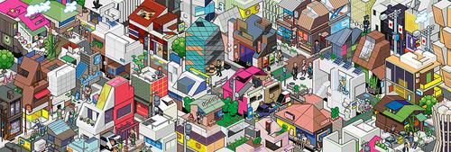 ルイ・ヴィトンの「トラベルブック」からついに東京編が登場。ピクセルアートグループeBoyのイラスト