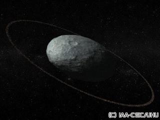 """太陽系外縁の準惑星「ハウメア」に""""環""""を発見 太陽系外縁天体で初めて見つかる"""